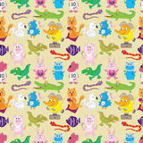 Animal Fly Sea Land Seamless Pattern_eps Stock Photography