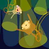 Animal flying trapeze Stock Images
