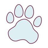 animal foot print icon Illustration de Vecteur