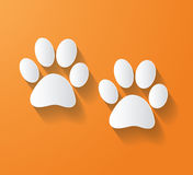 Animal Foot Print  Vector Stock Images