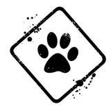 Animal footprint Stock Image