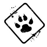 Animal footprint Stock Photo