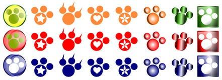 Animal footprint icons Royalty Free Stock Photos
