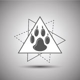 Animal footprint logo isolated on white background Royalty Free Stock Images
