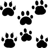 Animal footprint ornament border isolated on white background Royalty Free Stock Image