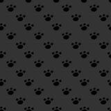 Animal footprint seamless dark pattern Royalty Free Stock Photo