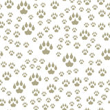 Animal footprints include seamless pattern mammals foot print trace wildlife track steps wild nature silhouette vector Stock Photos