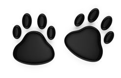 Animal footprints symbol. On white background. 3d rendered image Royalty Free Stock Images
