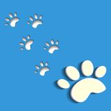 Animal footprints. Vector Royalty Free Stock Photos
