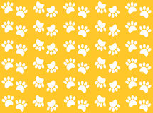 Animal footprints on a yellow background Stock Image