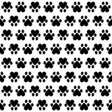 Animal footsteps. Seamless pattern with animal footsteps on white background Royalty Free Stock Photography