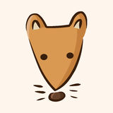 Animal fox flat icon elements, eps10 Stock Photo