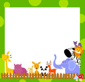 Animal and frame. Illustration of animal and frame Royalty Free Stock Images
