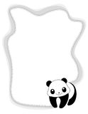 Animal frame panda Stock Photo