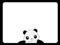 Animal frame panda. Cute panda bear border / frame Royalty Free Stock Image