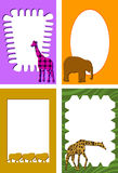 Animal frames. Frame / border illustrations with animals Royalty Free Stock Photography