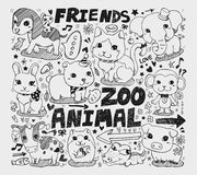 Animal friend doodle element Stock Photography