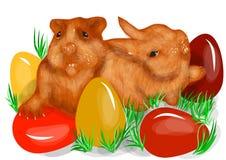 Animal fun easter Stock Images