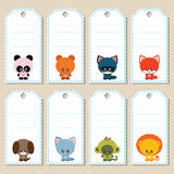 Animal gift tags Royalty Free Stock Photography
