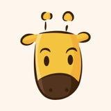 Animal giraffe flat icon elements, eps10. Vector illustration file Royalty Free Stock Photography