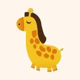 Animal giraffe flat icon elements, eps10 Royalty Free Stock Image