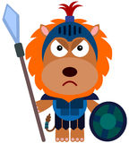 Animal gladiator. A fully armored gladiator lion is ready for battle Royalty Free Stock Photos