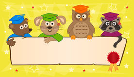 Animal Graduation Banner Stock Photo