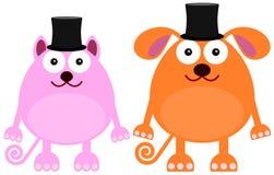 Animal with hats Stock Photo