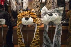 Animal hats on display Royalty Free Stock Image