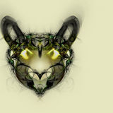 Animal Head. Abstract dog or wolf head Royalty Free Stock Photo