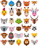 Animal head cartoon collection Royalty Free Stock Images