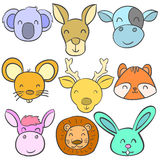 Animal head colorful of doodles Royalty Free Stock Photos