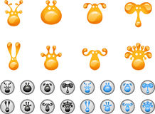 Animal head icons Stock Image
