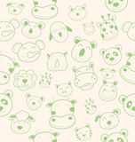 Animal head pattern Stock Image