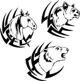 Animal head tattoos Royalty Free Stock Photo