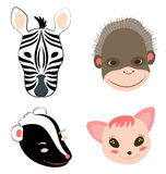 Animal Heads 1 Royalty Free Stock Photography