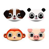 Animal heads Stock Photo