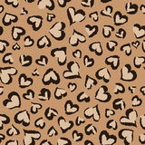Animal hearts ~ seamless background Royalty Free Stock Photos