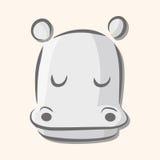 Animal hippo flat icon elements, eps10. Vector illustration file Stock Photography