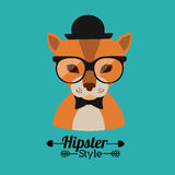 Animal hipster design Royalty Free Stock Photo