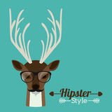Animal hipster design Stock Photos