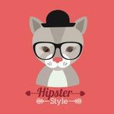 Animal hipster design Royalty Free Stock Photos