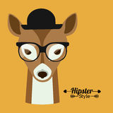 Animal hipster design Stock Image