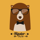 Animal hipster design Royalty Free Stock Images