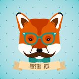 Animal hipster portrait Royalty Free Stock Photography
