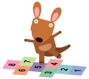 Animal hopscotch Royalty Free Stock Photo