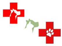 Animal hospital logo set Stock Photos