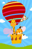 Animal and hot balloon Royalty Free Stock Image