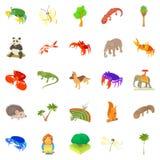 Animal husbandry icons set, cartoon style. Animal husbandry icons set. Cartoon set of 25 animal husbandry vector icons for web isolated on white background Royalty Free Stock Photography