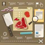 Animal husbandry infographic, agriculture, , flat design, elements Royalty Free Stock Photo